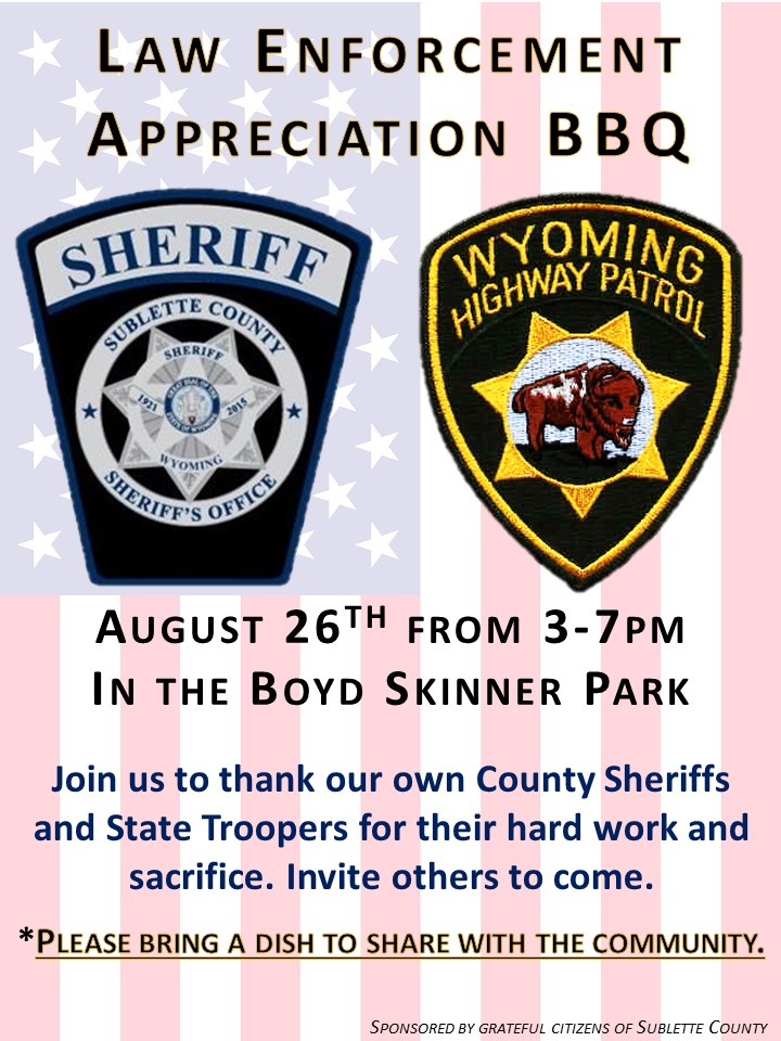 Sublette Law Enforcement Appreciation BBQ